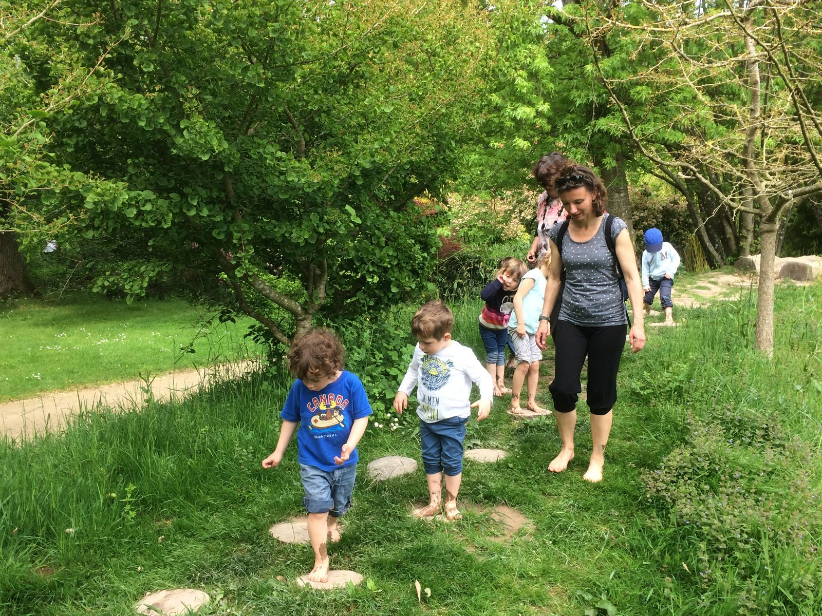 La sortie aux jardins de Brocéliande Ecole primaire Janusz Korczak
